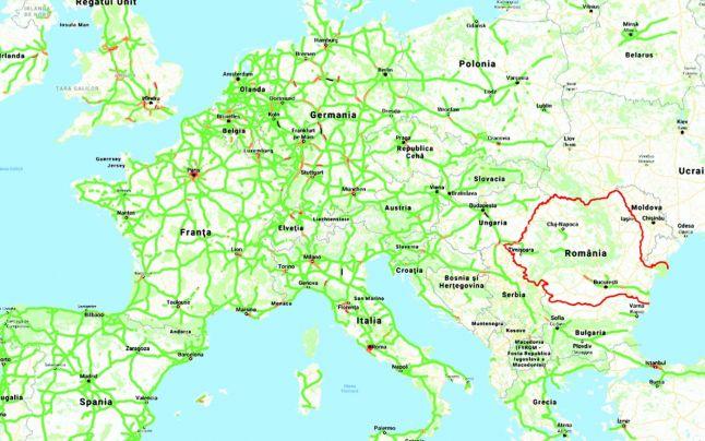Harta Autostrazi Europa Romencos Imobiliare